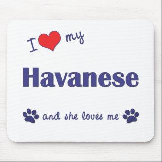 I Love My Havanese (Female Dog) Mouse Mat