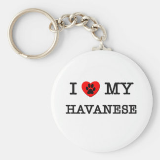 I LOVE MY HAVANESE KEY RING