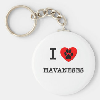 I LOVE MY HAVANESES KEY RING