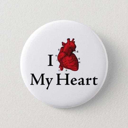 I love My heart 6 Cm Round Badge