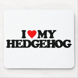 I LOVE MY HEDGEHOG MOUSE PAD