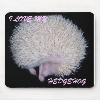 I LOVE MY HEDGEHOG MOUSE PAD