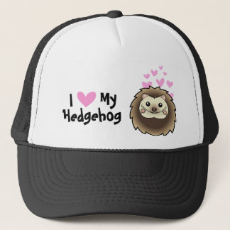 I Love My Hedgehog Trucker Hat