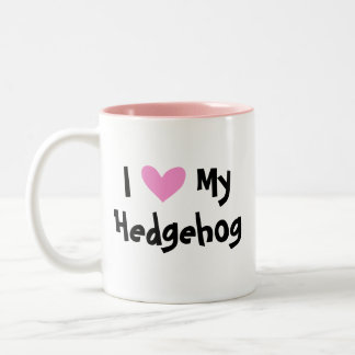 I Love My Hedgehog Two-Tone Coffee Mug
