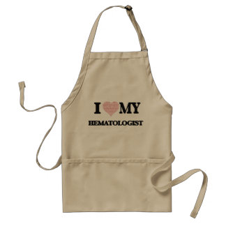 I love my Hematologist (Heart Made from Words) Standard Apron