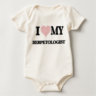 I love my Herpetologist (Heart Made from Words) Rompers