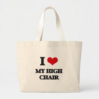 I Love My High Chair Jumbo Tote Bag