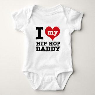 I love my Hip hop Daddy Baby Bodysuit