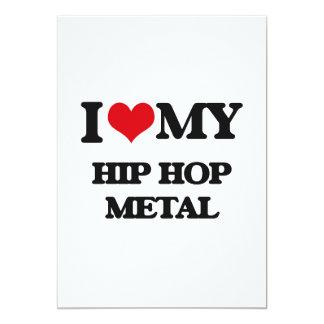 I Love My HIP HOP METAL Custom Invitation Card