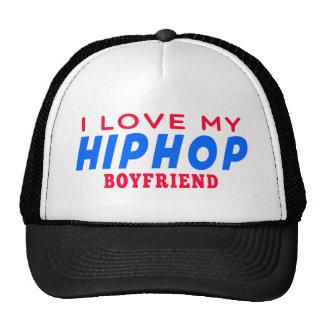 I Love My Hiphop Boyfriend Mesh Hat