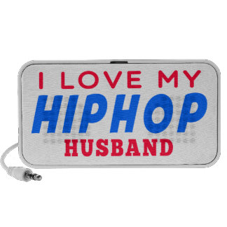 I Love My Hiphop Wife iPod Speakers