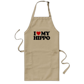I LOVE MY HIPPO APRONS