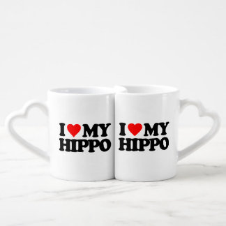 I LOVE MY HIPPO COFFEE MUG SET