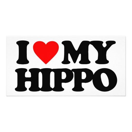 I LOVE MY HIPPO PHOTO CARDS