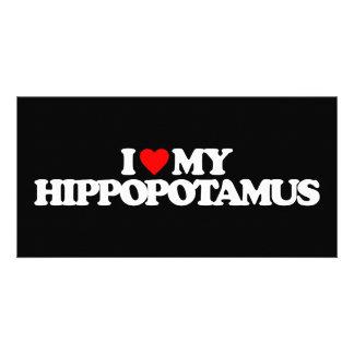 I LOVE MY HIPPOPOTAMUS CUSTOMISED PHOTO CARD