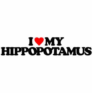 I LOVE MY HIPPOPOTAMUS PHOTO SCULPTURE BADGE