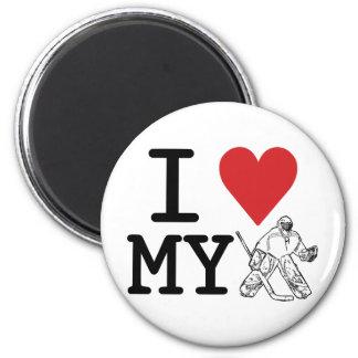 I Love My Hockey Goalie Fridge Magnet