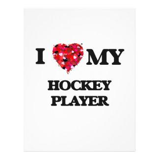 I love my Hockey Player 21.5 Cm X 28 Cm Flyer