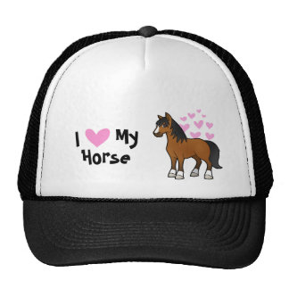 I Love My Horse Cap