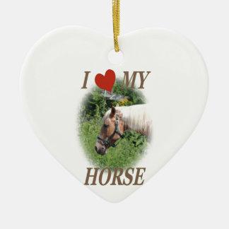 I love my horse ceramic heart decoration