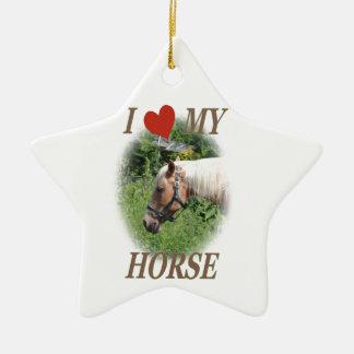 I love my horse ceramic star decoration