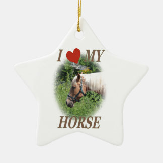 I love my horse christmas ornament