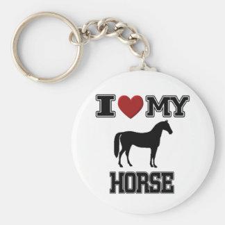 I LOVE MY HORSE KEYCHAIN