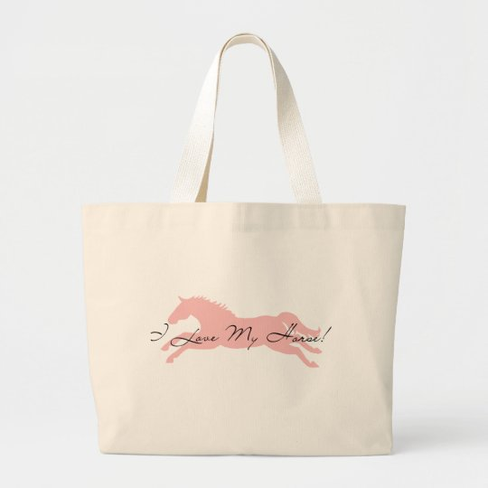 I Love My Horse Large Tote Bag