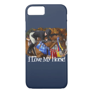 I Love My Horse Photo Template iPhone 7 Case