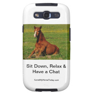 I Love My Horse Today Samsung Galaxy Phone Cover Samsung Galaxy SIII Cases