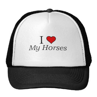 I love my horses cap