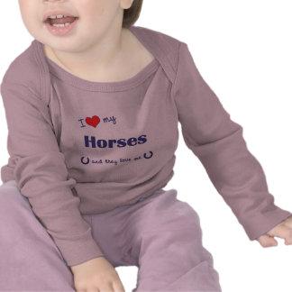I Love My Horses (Multiple Horses) Shirts