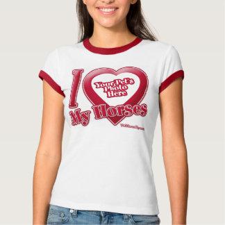 I Love My Horses - Photo T-Shirt