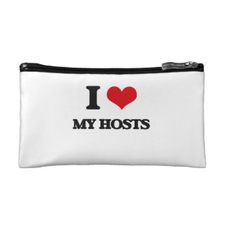 I Love My Hosts Cosmetic Bags