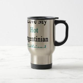 I Love My Hot Argentinian Girlfriend Coffee Mugs