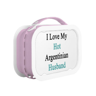 I Love My Hot Argentinian Husband Lunch Box