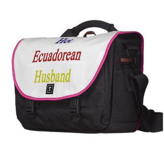 I Love My Hot Ecuadorean Husband Laptop Commuter Bag