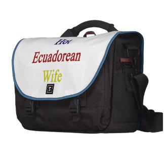 I Love My Hot Ecuadorean Wife Commuter Bags