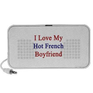 I Love My Hot French Boyfriend Laptop Speaker
