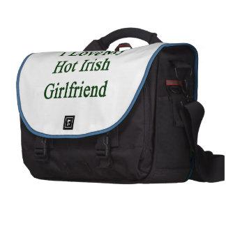 I Love My Hot Irish Girlfriend Laptop Commuter Bag