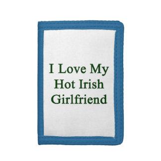 I Love My Hot Irish Girlfriend Trifold Wallets