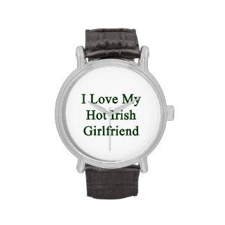 I Love My Hot Irish Girlfriend Wristwatch