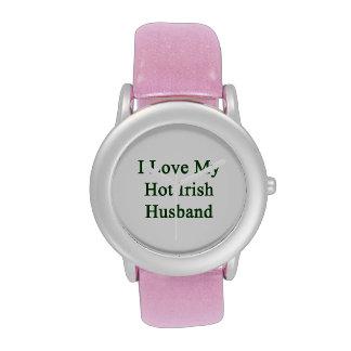 I Love My Hot Irish Husband Wrist Watch