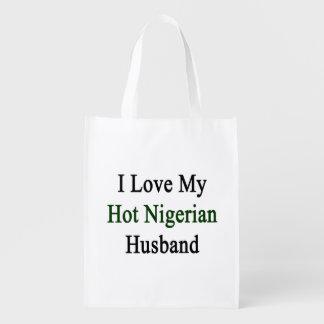 I Love My Hot Nigerian Husband. Grocery Bag