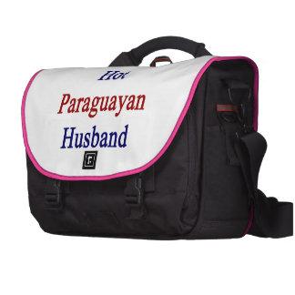 I Love My Hot Paraguayan Husband Laptop Messenger Bag