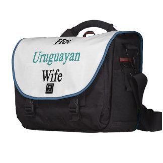 I Love My Hot Uruguayan Wife Laptop Commuter Bag
