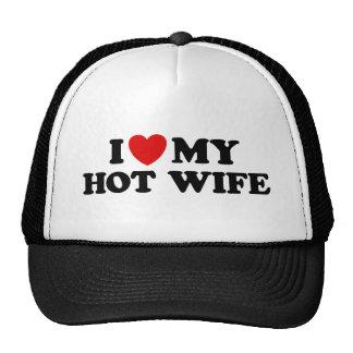 I Love My Hot Wife Mesh Hat