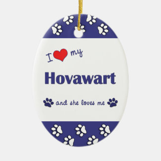 I Love My Hovawart (Female Dog) Christmas Ornament