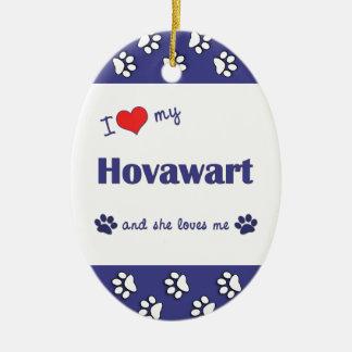 I Love My Hovawart (Female Dog) Christmas Ornament