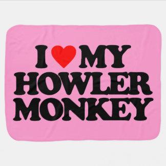 I LOVE MY HOWLER MONKEY RECEIVING BLANKET